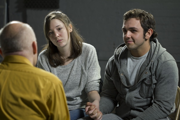 Young couple at couples' therapy